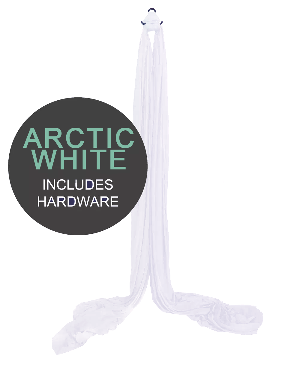 arctic white aerial silks for sale