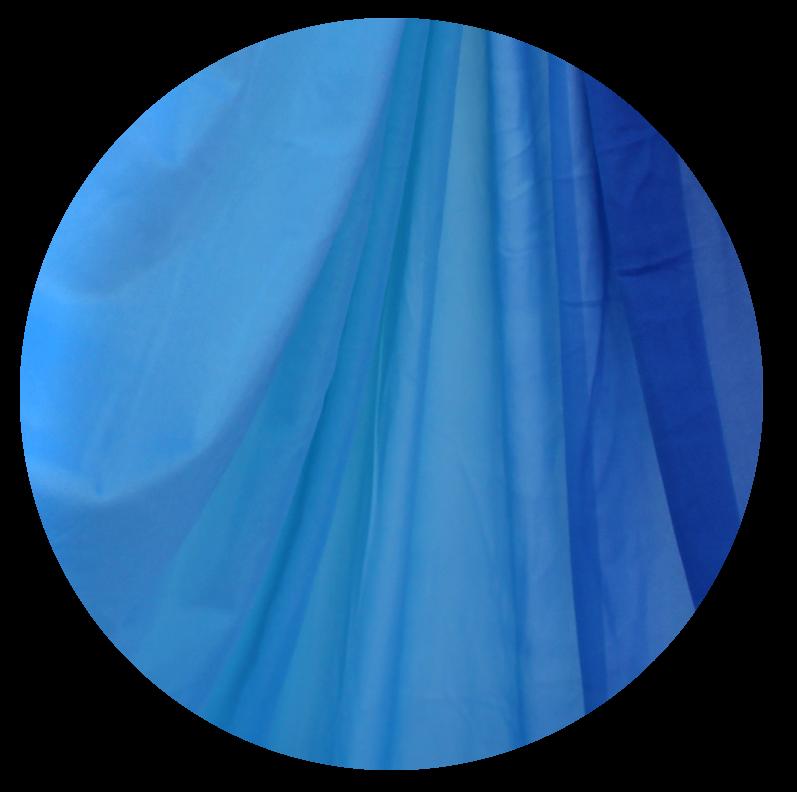 Arctic Blue Ombre Aerial Silks
