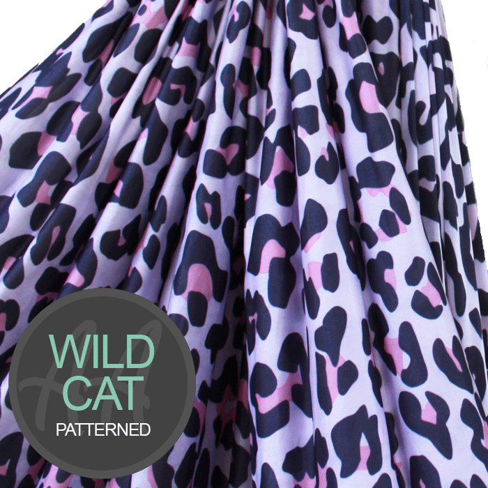 Pink Wild Cat Aerial Silks Fabric