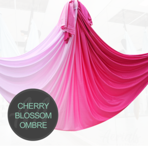 CHERRY BLOSSOM PINK Ombre aerial yoga hammocks for sale
