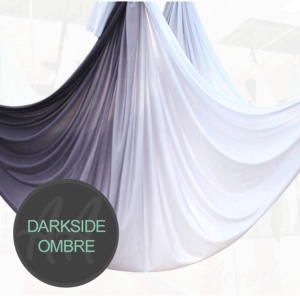 DARKSIDE BLACK WHITE Ombre aerial yoga hammocks for sale