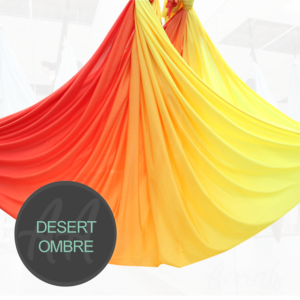 DESERT ORANGE YELLOW Ombre aerial yoga hammocks for sale