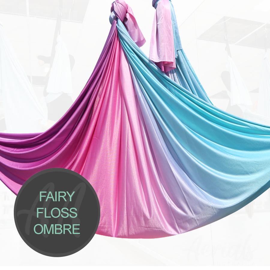 FAIRY-FLOSS BLUE PURPLE PINK Ombre aerial yoga hammocks for sale