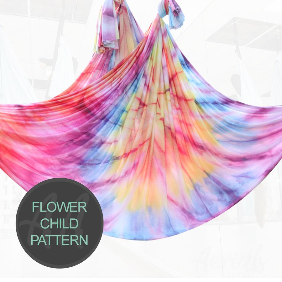 FLOWER CHILD TIE-DYE PATTERN aerial yoga hammocks for sale