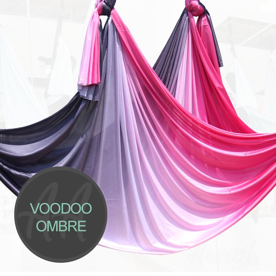 VOODOO BLACK RED OMBRE AERIAL YOGA HAMMOCKS