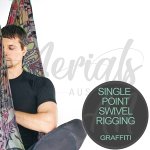 Single Point Swivel Graffiti Aerial Yoga Hammocks For Sale Australia
