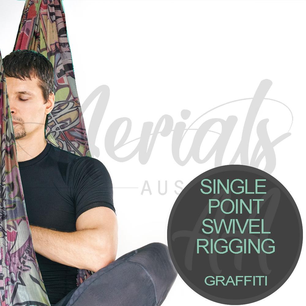 Single Point Swivel Graffiti Aerial Yoga Hammocks For Sale Australia