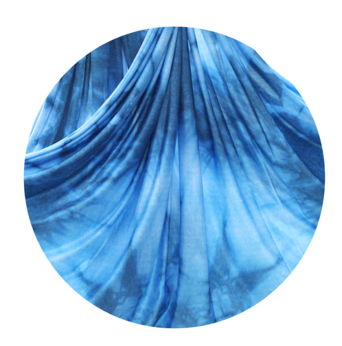 blue blizzard pattern aerial silks