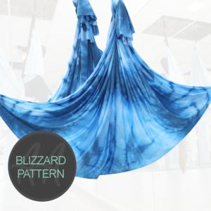 Blue blizzard pattern Aerial Yoga Hammock